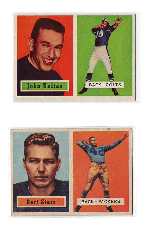 1957 Topps Complete Football Card Set - Unitas Rookie, Starr Rookie