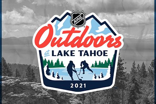 2021 NHL Outdoors Lake Tahoe Games on DVD - Both Games
