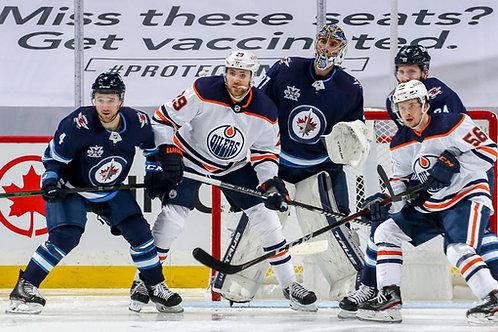 2021 NHL 1st Round Playoff - Edmonton Vs. Winnipeg - All 4 Games