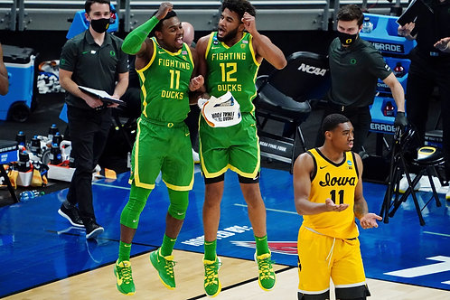 2021 NCAA Basketball Round of 32 on DVD - Oregon Upsets Iowa