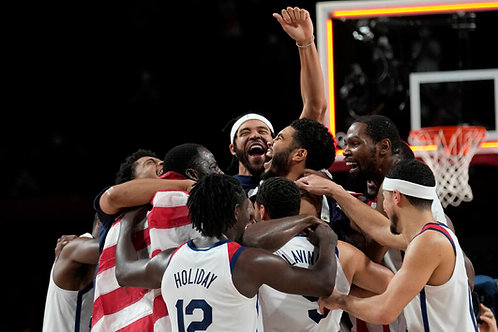 2020 Men's Olympic Basketball Gold Medal Run on DVD - All 6 Games