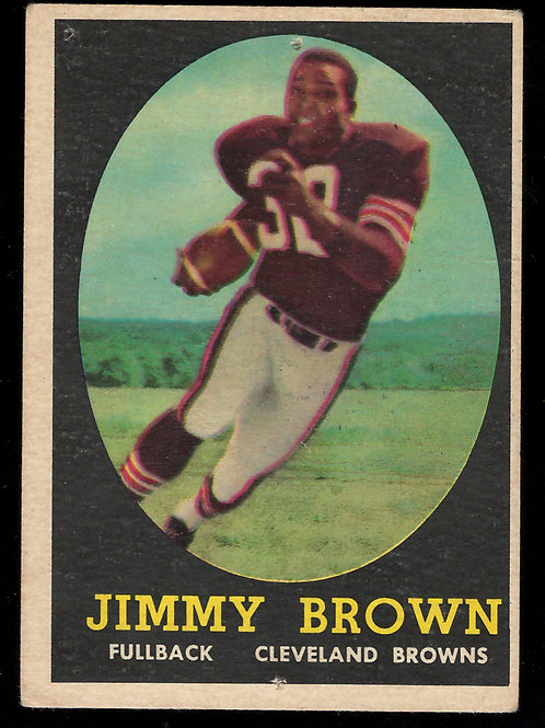 1958 Topps Complete Football Card Set - Jim Brown Rookie