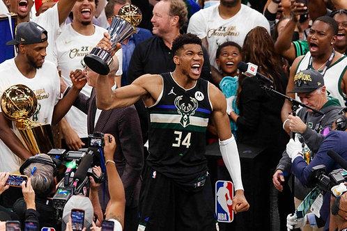 2021 Milwaukee Bucks NBA Playoffs & Finals Games On DVD - All 16 Wins Only