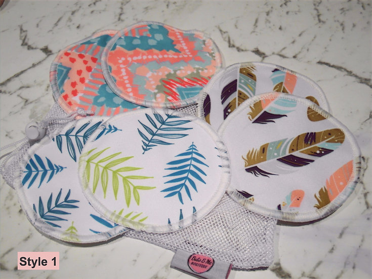 Re-Usable Bamboo Nursing Pads - 3 Pairs