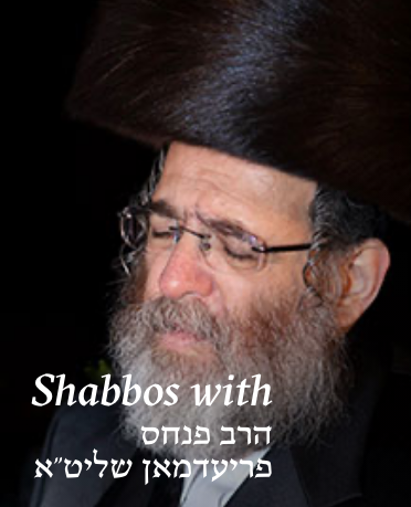 Just as spice give flavor to food, Rav Pinches Friedman's Tavlin L'Shabbos infuses deep flavor in every aspect of Shabbos showing us how to maximize the enjoyment from Hashem's special gift to us.