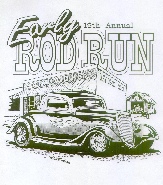 '01 Rod Run - BW