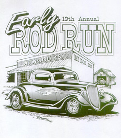 '01 Rod Run - BW