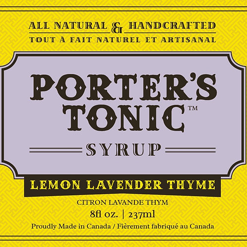 Porter's Lemon, Lavender and Thyme Tonic Syrup