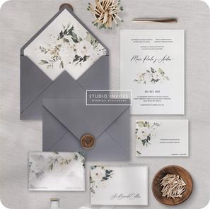 WHITER ROSES INVITATION - STUDIO INVITES