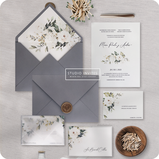 WHITER ROSES INVITATION - STUDIO INVITES