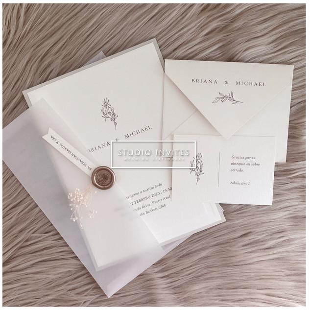 CLEAR ENVELOPE INVITATION - STUDIO INVITES