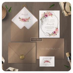 TROPICAL GLAM WEDDING INVITATION - STUDI