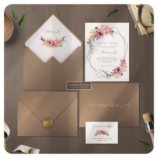 TROPICAL GLAM WEDDING INVITATION - STUDI