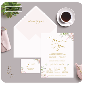 FRESH PEACH WEDDING INVITATION - STUDIO