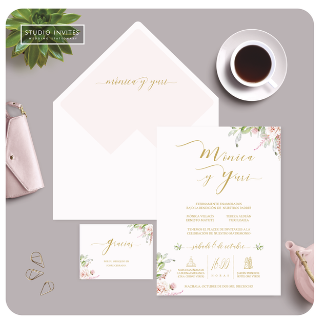 FRESH PEACH WEDDING INVITATION - STUDIO