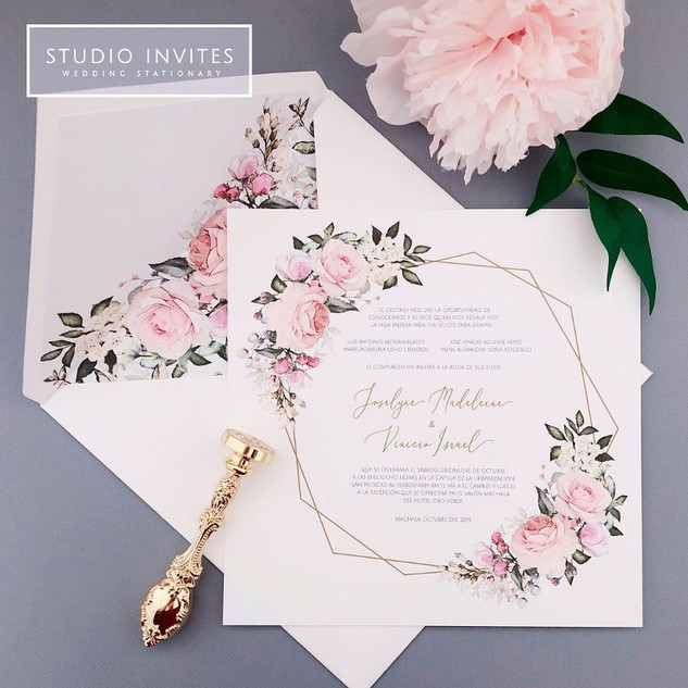 ROMANTIC PARISIAN FLOWERS INVITATION - S
