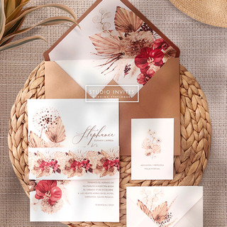 DRIED FLOWERS INVITATION - STUDIO INVITE