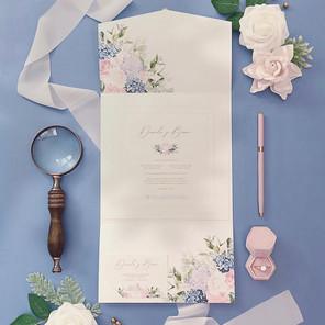 PINK AND BLUE INVITATION - STUDIO INVITE