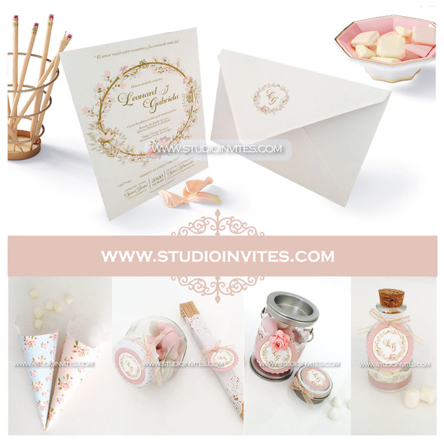 VINTAGE PINK WEDDIN INVITATION - STUDIO