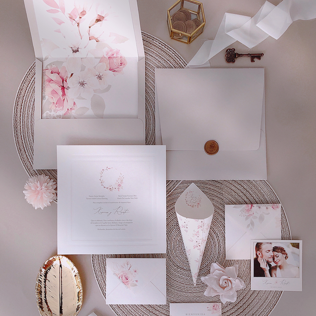 WARM PINK INVITATION  - STUDIO INVITES.