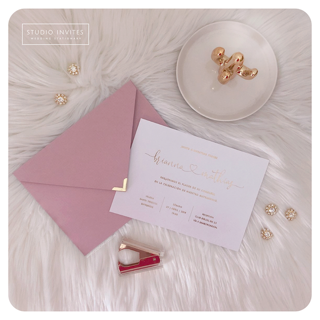 PINK AND GOLD INVITATION - STUDIO INVITE