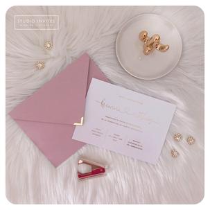 PINK AND GOLD INVITATION - STUDIO INVITE