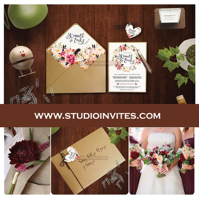 WILD FLOWERS RUSTIC INVITATION - STUDIO