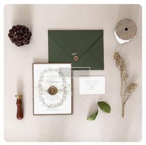 GREEN OLIVE WEDDING INVITATION - STUDIO