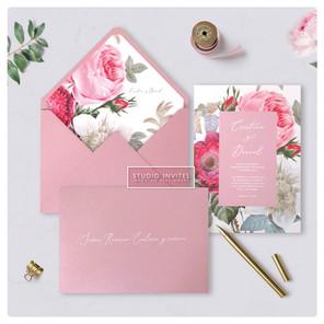 BOTANIC ROSE INVITATION -- STUDIO INVITE