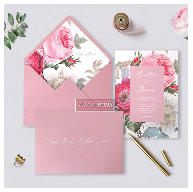 BOTANIC ROSE INVITATION -- STUDIO INVITE