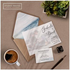 BEACH INVITATION WITH PHOTO - STUDIO INVITES