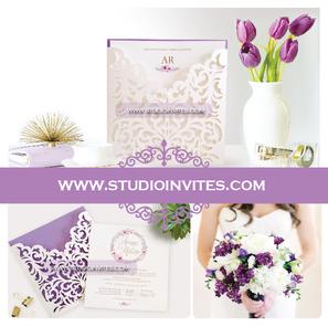 LILAC WEDDING INVITATION - STUDIO INVITE