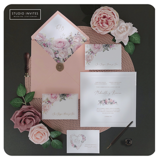 PEACH AND PINK INVITATION - STUDIO INVIT