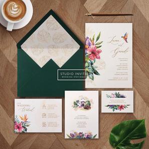 TROPICAL WEDDING DESTINATION - STUDIO INVITES