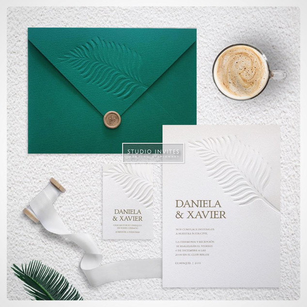 GREEN PINE INVITATION 1 - STUDIO INVITES