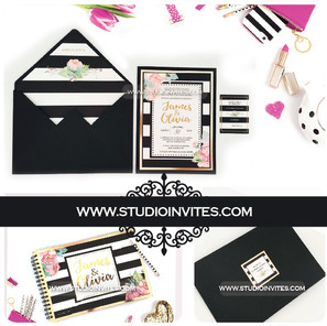 INVITACION BLACK STRIPES - STUDIO INVITE