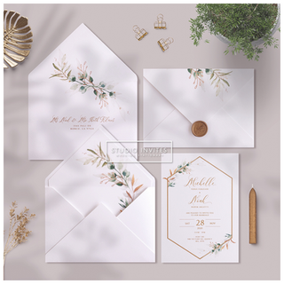GREENARY GOLD INVITATION - STUDIO INVITES