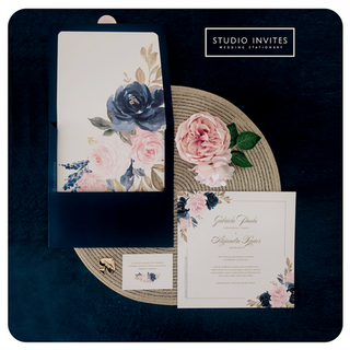 NAVYBLUE & BABYROSE INVITATION - STUDIO