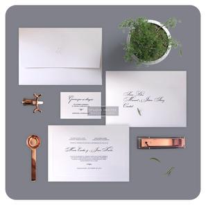 WHITE FORMAL INVITATION - STUDIO INVITES