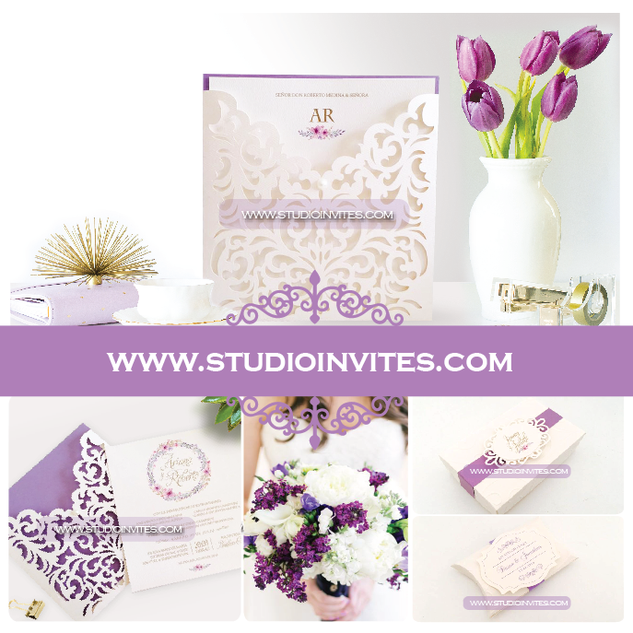 LILAC WEDDING INVITATION - STUDIO INVITE