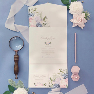 PINK AND BLUE INVITATION - STUDIO INVITE