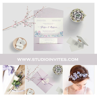 LIGTH LILAC INVITATIONS - STUDIO INVITES