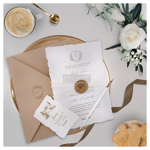 ROSE SEAL WEDDING INVITATION - STUDIO IN
