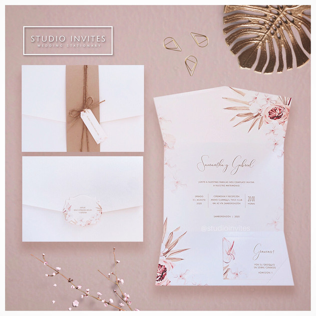 BOHO TROPICAL STYLE INVITATION - STUDIO INVITES