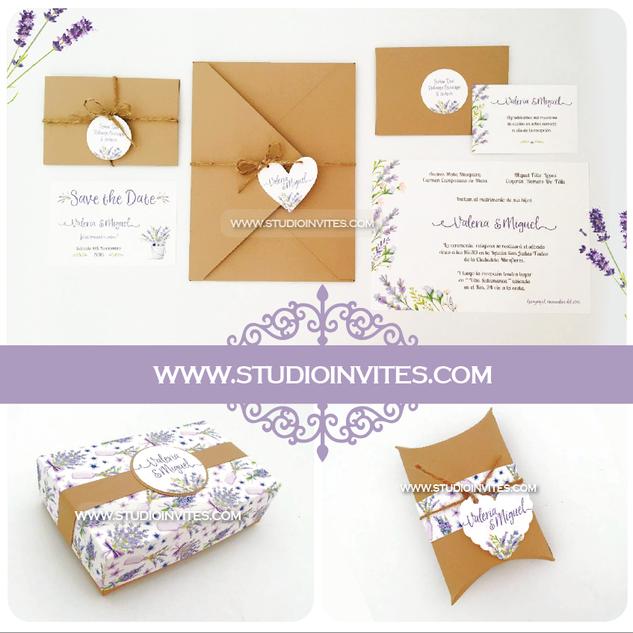 LAVENDER WEDDING INVITATION - STUDIO INV