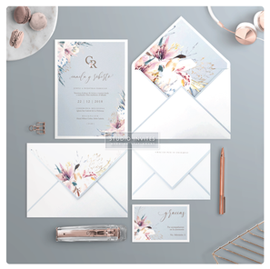FANCY FLOWER WEDDING INVITATION - STUDIO