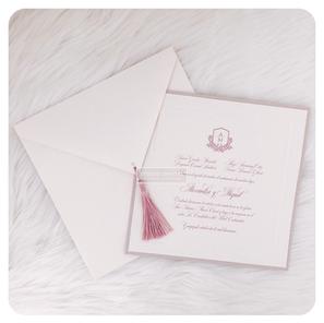 elegant dusty pink invitation - STUDIO I