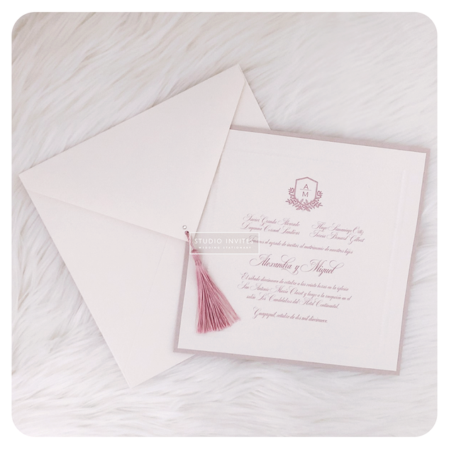 elegant dusty pink invitation - STUDIO I