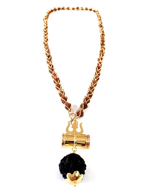 Ожерелье-кавача с рудракшей