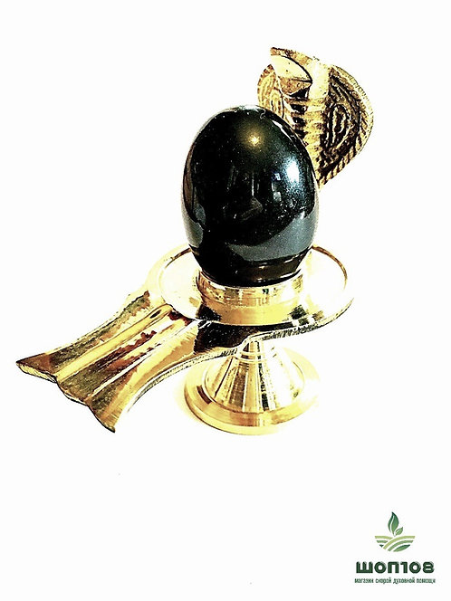 Шивалингам чёрный с питхой